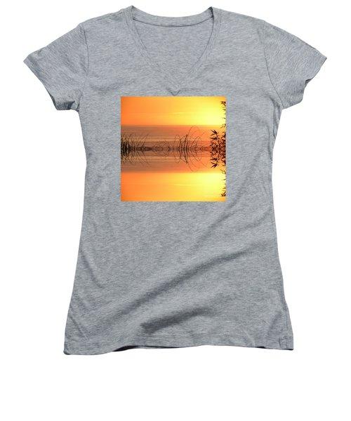 Sunset Reflection Women's V-Neck T-Shirt