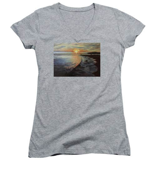 Sunset Sea Women's V-Neck T-Shirt