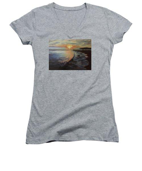 Sunset Sea Women's V-Neck T-Shirt