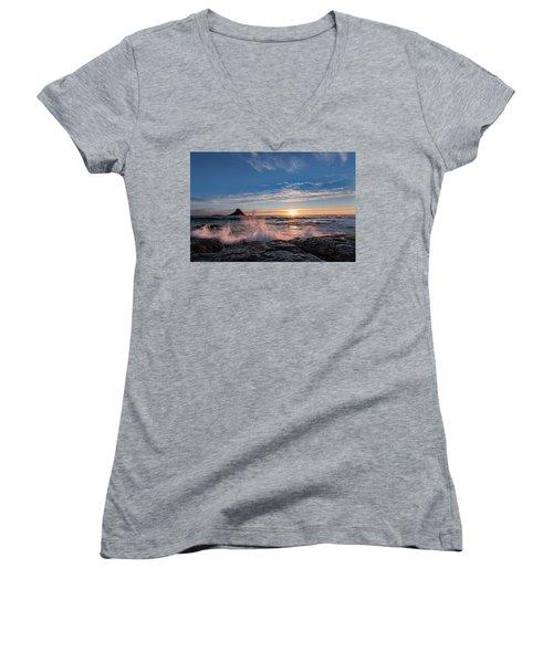 Sunset Splash II Women's V-Neck T-Shirt