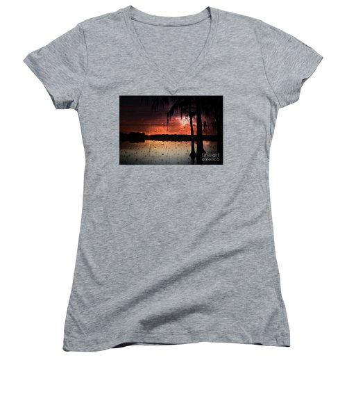 Sunset Storms Women's V-Neck T-Shirt