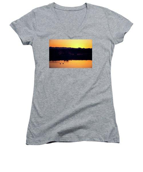 Sunset Swim Women's V-Neck