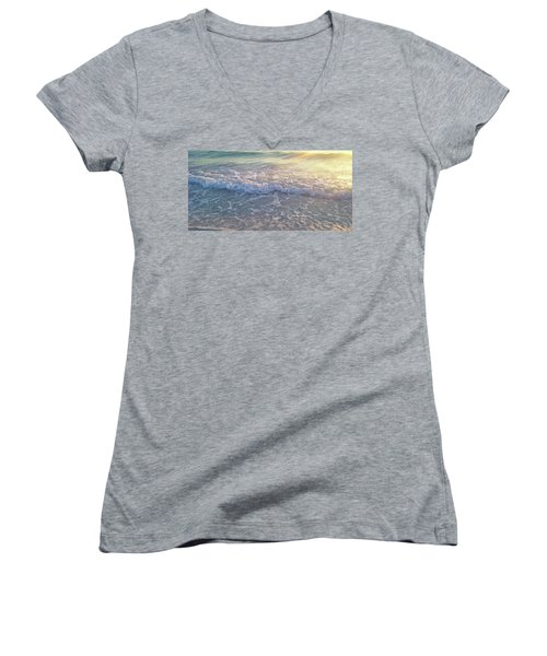 Sunset Tide Women's V-Neck (Athletic Fit)