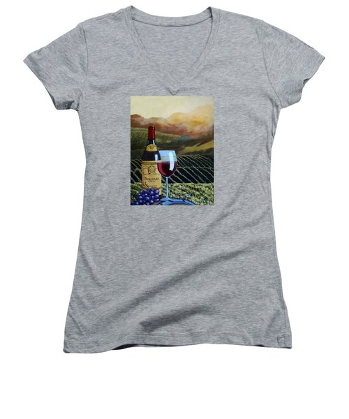 Sunset W/beaujolais Women's V-Neck