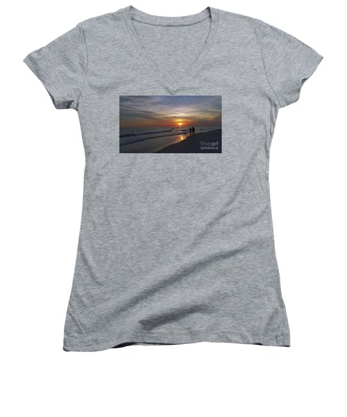 Women's V-Neck T-Shirt (Junior Cut) featuring the photograph Tranquility by Terri Mills