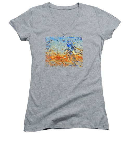 Sunset Walk Women's V-Neck T-Shirt (Junior Cut) by Sami Tiainen
