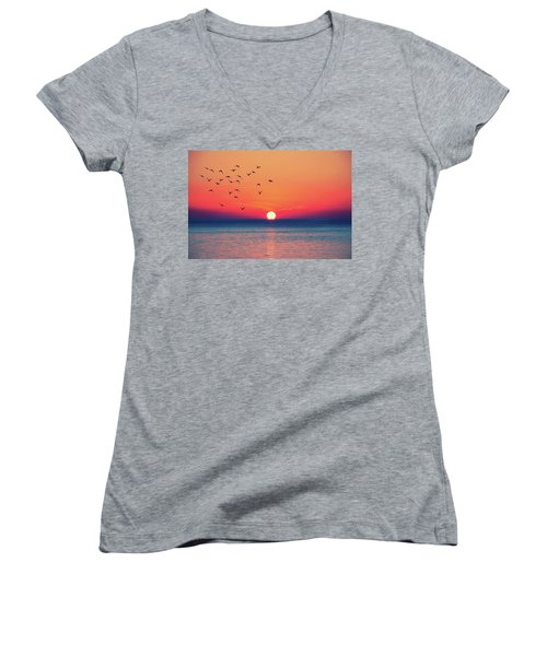 Sunset Wishes Women's V-Neck T-Shirt