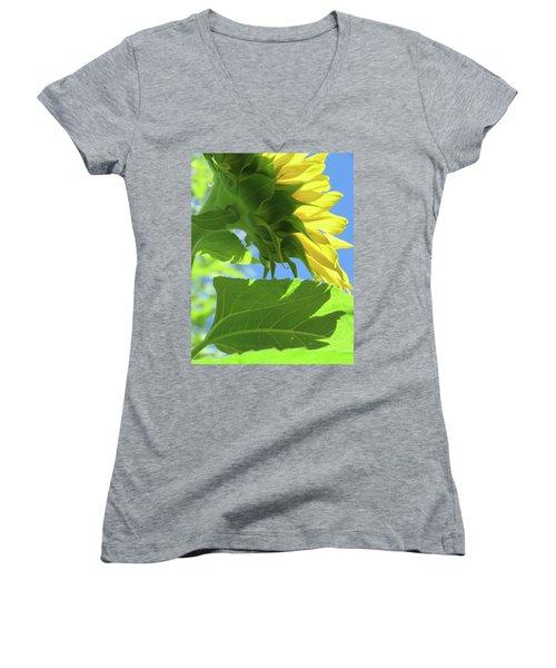 Sunshine In The Garden 19  Women's V-Neck T-Shirt (Junior Cut) by Brooks Garten Hauschild