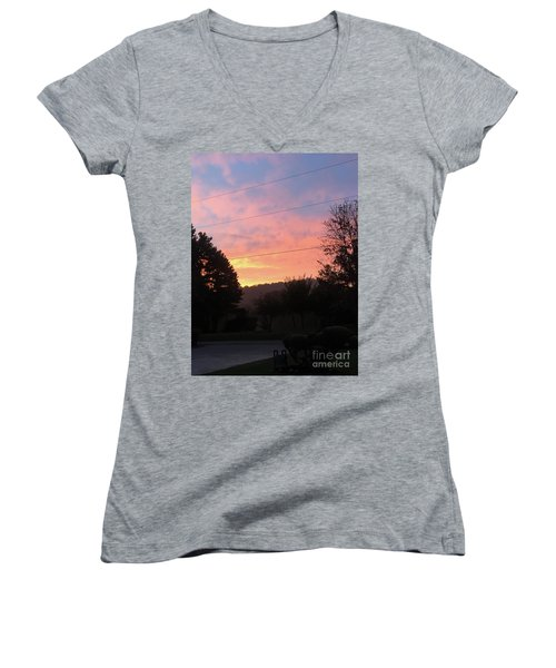 Sunshine Without The Fog Women's V-Neck (Athletic Fit)