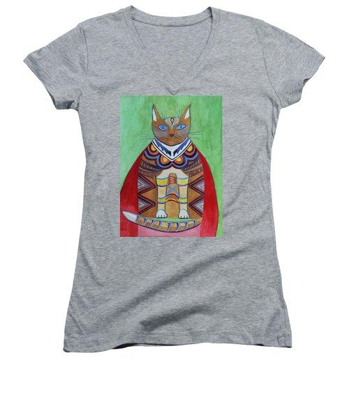 Super Cat Women's V-Neck (Athletic Fit)