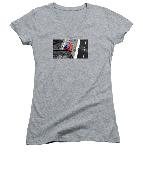 Super Hero Women's V-Neck (Athletic Fit)