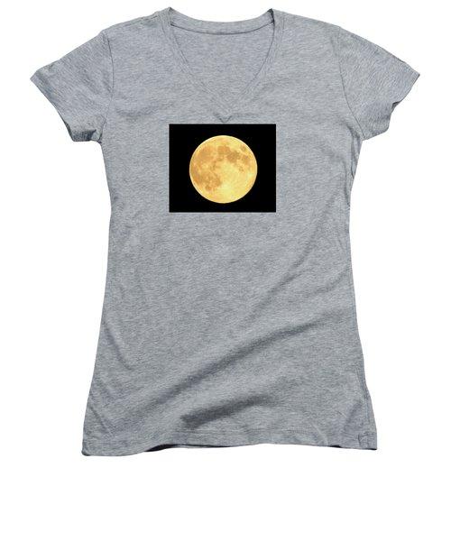 Supermoon Full Moon Women's V-Neck T-Shirt