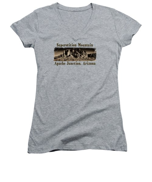 Superstition Mountain  Women's V-Neck