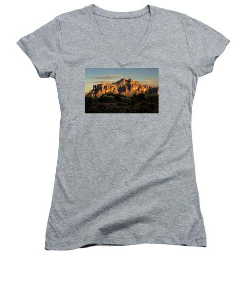 Superstitions At Sunset  Women's V-Neck T-Shirt