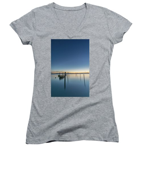 Sure Is Quiet Our Here Women's V-Neck