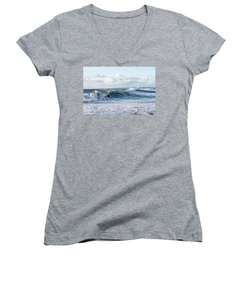 Surf And Sky Women's V-Neck (Athletic Fit)