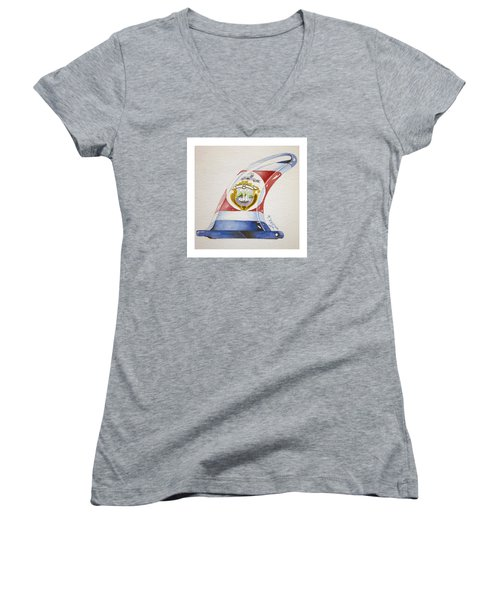 Surf Costa Rica Women's V-Neck T-Shirt (Junior Cut) by William Love