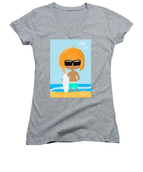 Surf Dude Women's V-Neck
