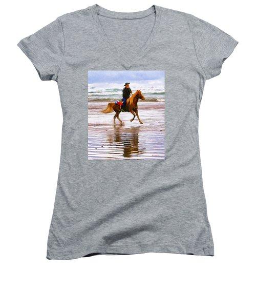 Surf Rider Women's V-Neck T-Shirt