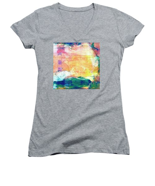Women's V-Neck T-Shirt (Junior Cut) featuring the painting Surface Vector by Dominic Piperata