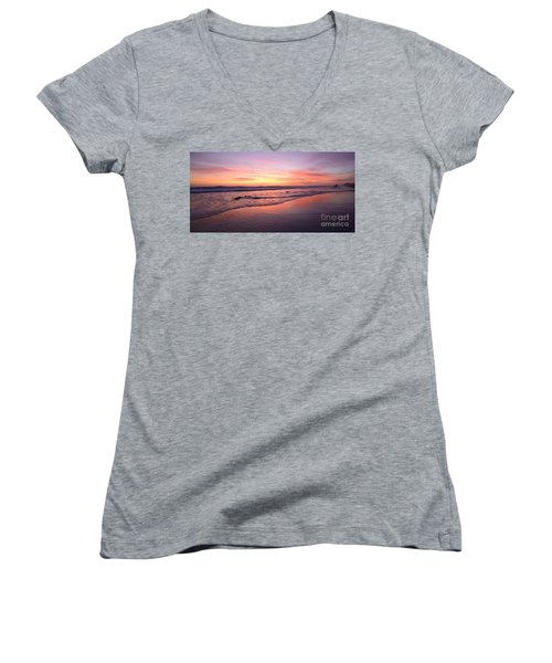 Surfer Afterglow Women's V-Neck (Athletic Fit)