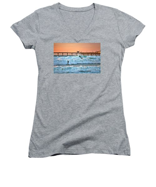Surfer Celebration Women's V-Neck