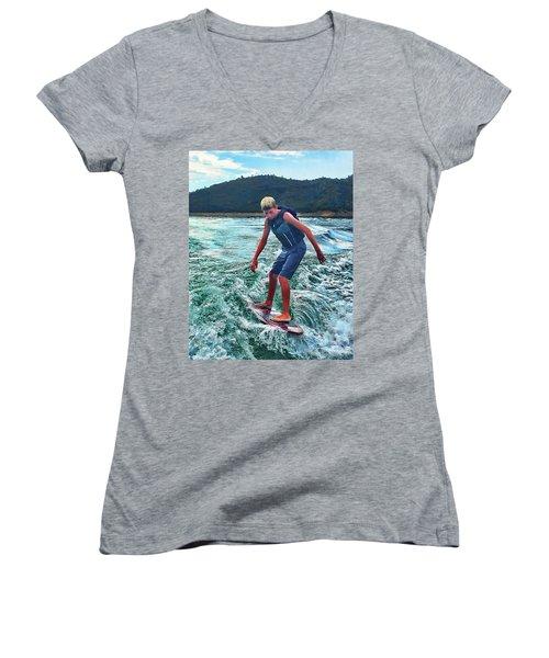 Surfer Tate Women's V-Neck