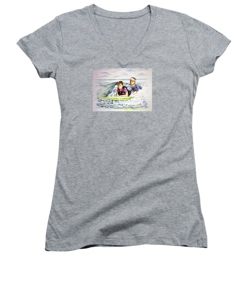 Surfers Healing Women's V-Neck (Athletic Fit)