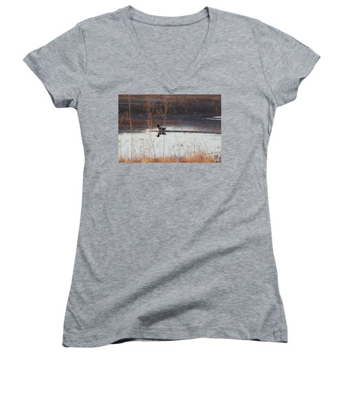 Surfs Up Women's V-Neck