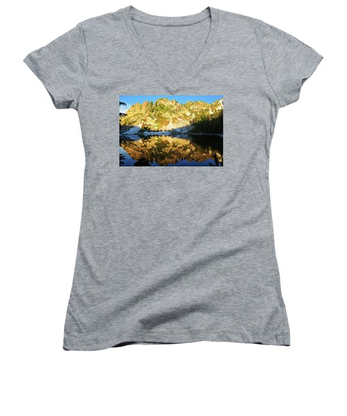 Surprise Lake Morning Reflections Women's V-Neck