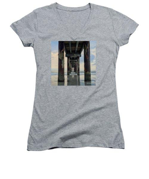 Surreal Sunday Sunrise Women's V-Neck T-Shirt (Junior Cut) by LeeAnn Kendall