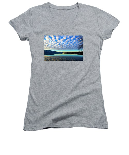Surreal Sunrise Women's V-Neck (Athletic Fit)