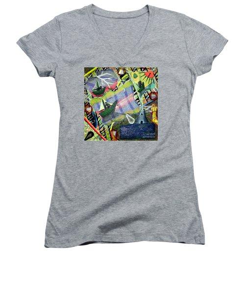 Surrealism Of The Souls Women's V-Neck T-Shirt