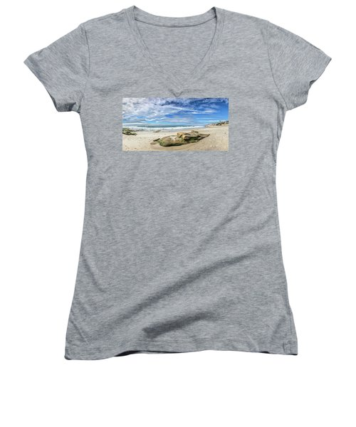 Women's V-Neck T-Shirt (Junior Cut) featuring the photograph Surrounded By Beauty by Peter Tellone