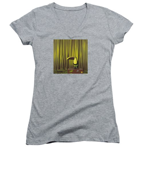 Suspenders Women's V-Neck T-Shirt