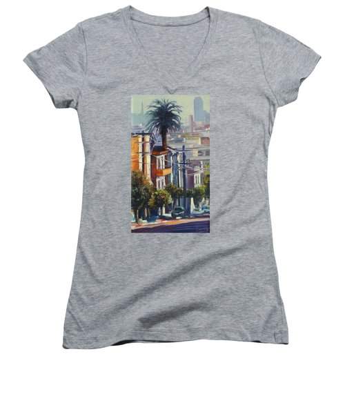 Post Street Women's V-Neck T-Shirt
