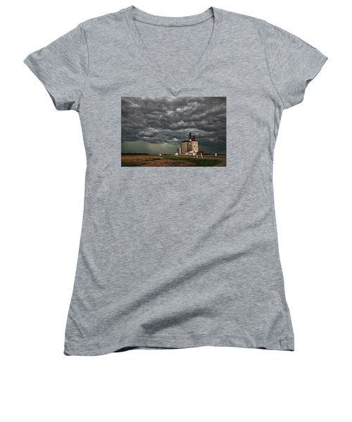 Swallowed By The Sky Women's V-Neck
