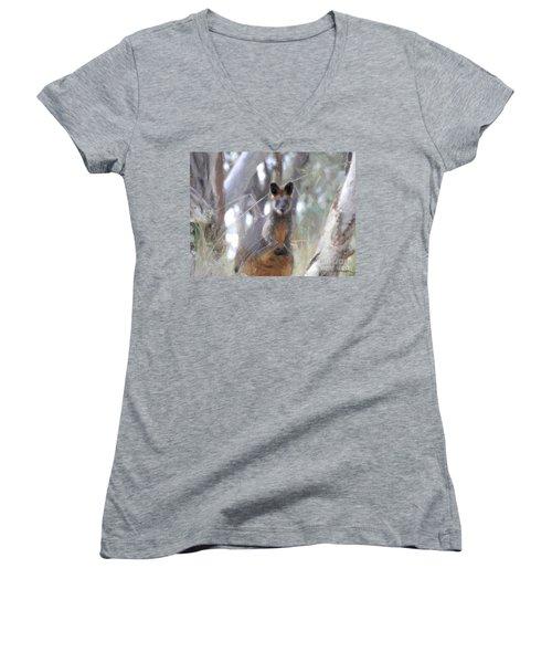 Swamp Wallaby Women's V-Neck