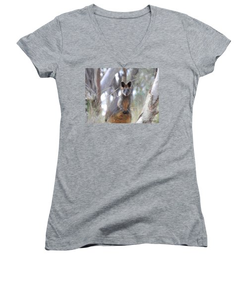 Swamp Wallaby Women's V-Neck (Athletic Fit)