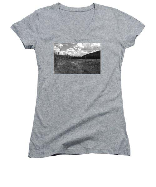 Women's V-Neck T-Shirt (Junior Cut) featuring the photograph Swampoem by Curtis J Neeley Jr