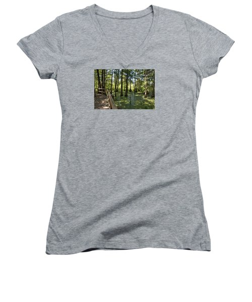 Swamps Women's V-Neck T-Shirt
