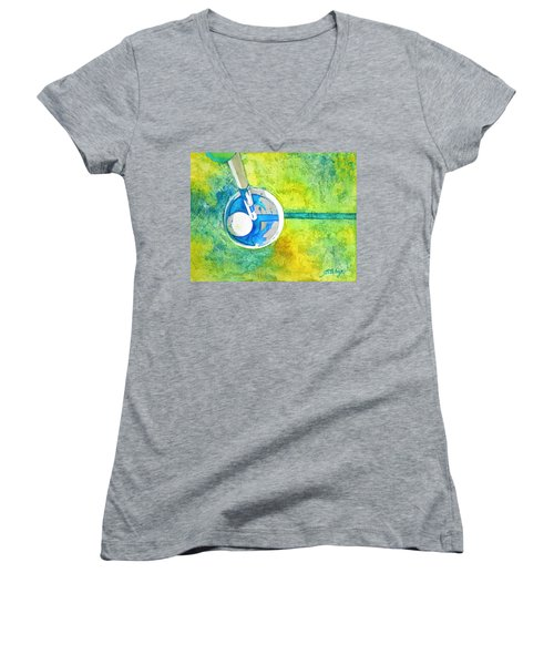 Sweet Anticipation - Golf Series Women's V-Neck T-Shirt (Junior Cut) by Betty M M Wong