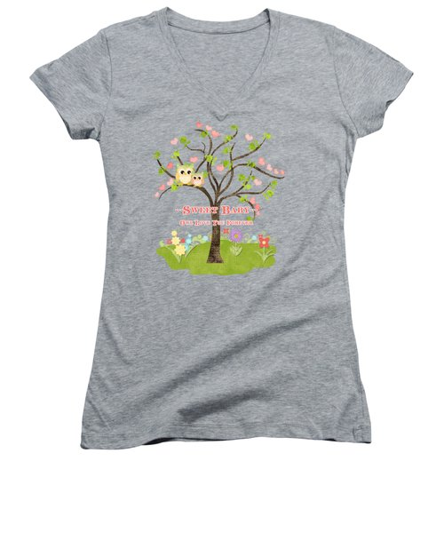 Sweet Baby - Owl Love You Forever Nursery Women's V-Neck (Athletic Fit)