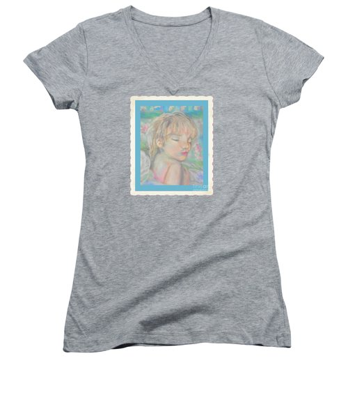 Women's V-Neck T-Shirt (Junior Cut) featuring the photograph Sweet Dreams by Shirley Moravec