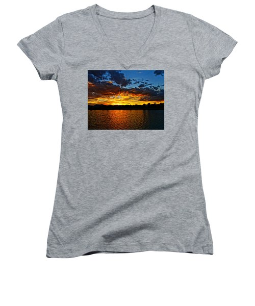 Sweet End Of Day Women's V-Neck T-Shirt (Junior Cut) by Eric Dee