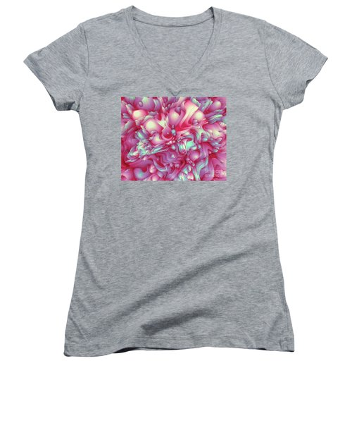 Sweet Flowers 2 Women's V-Neck T-Shirt (Junior Cut) by Moustafa Al Hatter