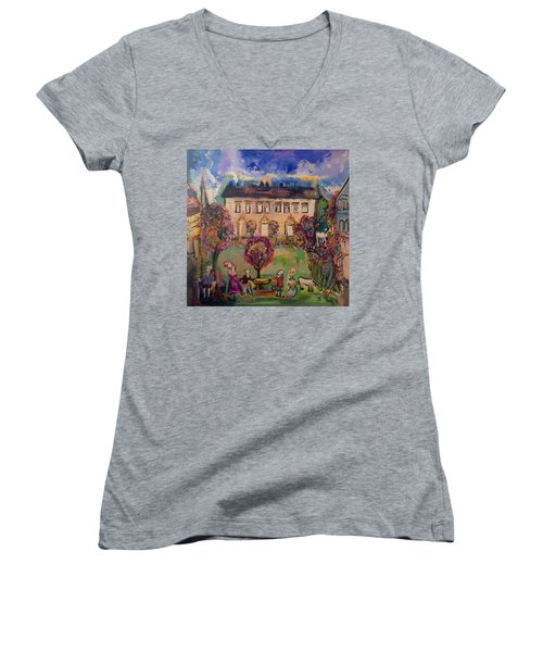 Sweet Georgian Revisited  Women's V-Neck (Athletic Fit)