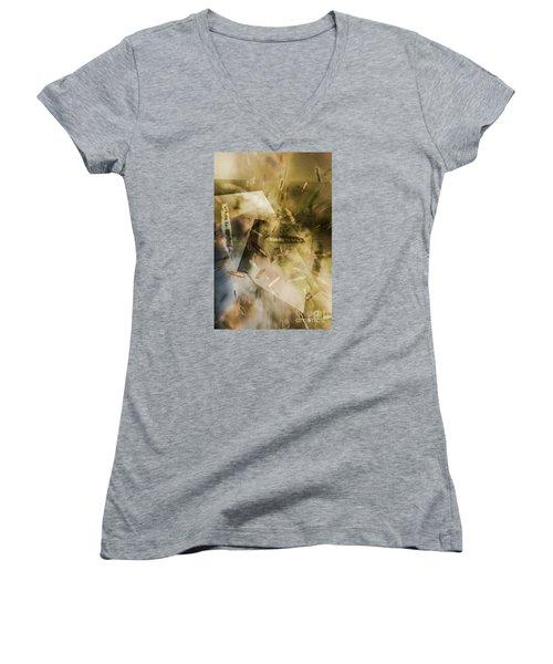 Sweet Grass Women's V-Neck T-Shirt (Junior Cut) by Elaine Hunter