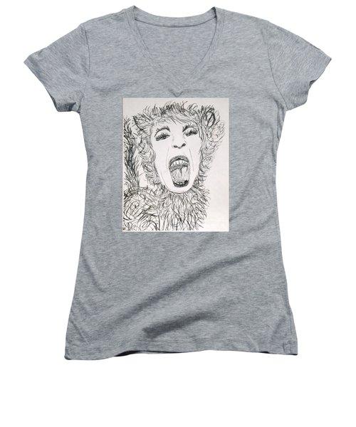 Sweet Kitty Women's V-Neck T-Shirt