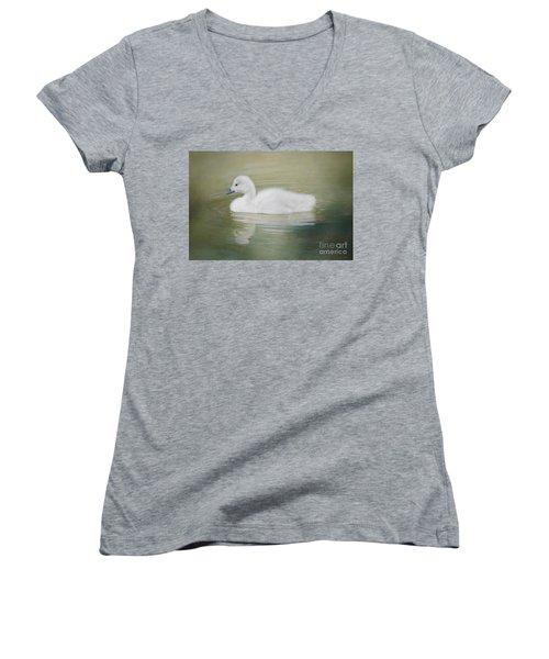 Sweet Little Gosling Women's V-Neck T-Shirt